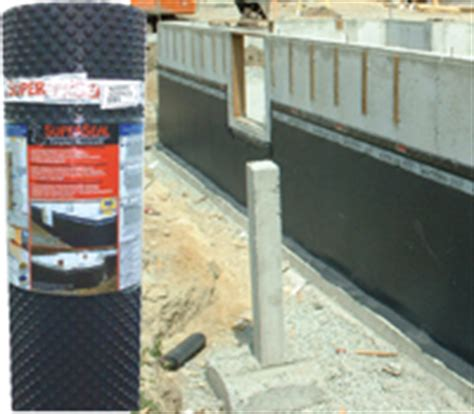 dimpled foundation membrane and accessories for foundation