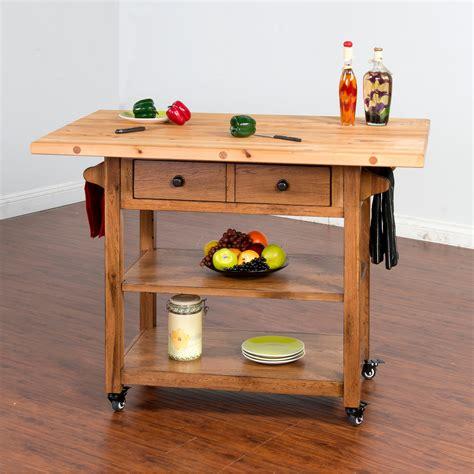 butcher block kitchen cart sunny designs sedona butcher sunny designs sedona butcher block table with drop leaf