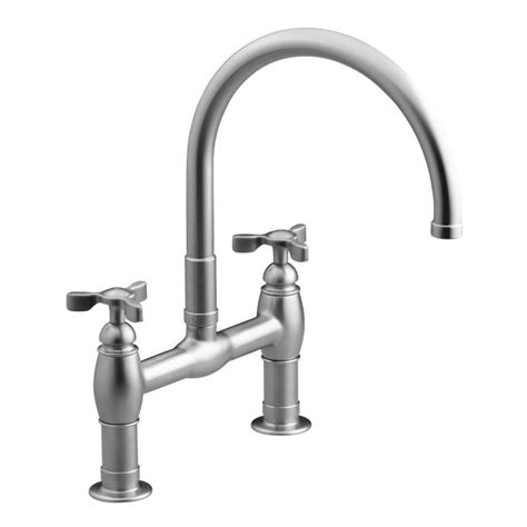 high arc kitchen faucet reviews shop kohler parq vibrant stainless 2 handle high arc