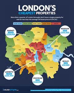 cheapest home prices in us a quarter of london boroughs don t have any homes for sale