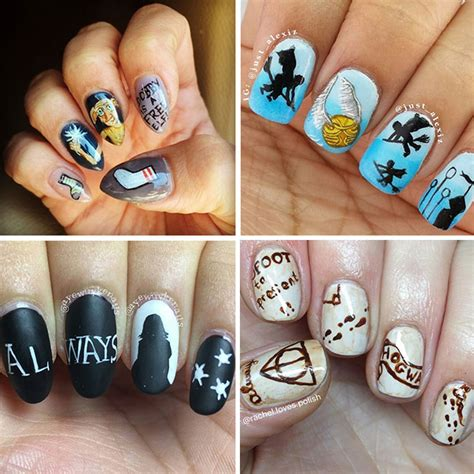harry potter designs 15 harry potter nail designs that are seriously