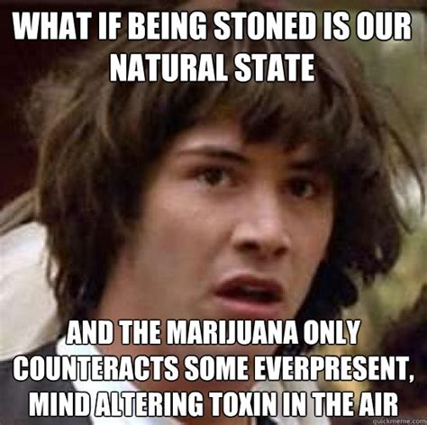 Funny Memes About Weed - what if being stoned is our natural state and the