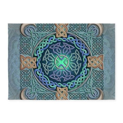 Celtic Eye Of The World 5 X7 Area Rug By Artoffoxvox Celtic Area Rugs