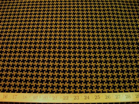 black and camel houndstooth upholstery fabric fw375