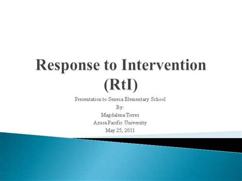 response to intervention ppt authorstream