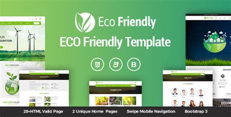 Eco Friendly Environmental Ecology Template By Kodeforest Themeforest Friendly Website Templates