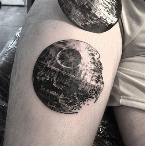 death star tattoo 48 charming unique circular designs