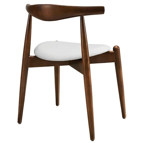 Dining End Chairs Stalwart Dining Side Chair In Walnut White Armchairs Chairs Stools Eei 1080 Dwl Whi 3
