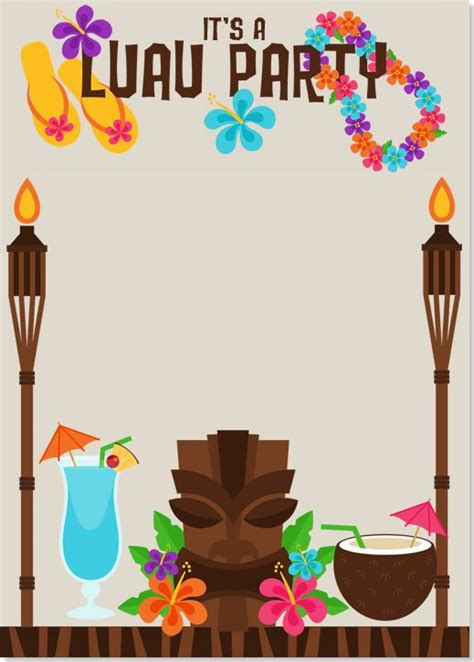 luau invitations templates free 17 best ideas about luau invitations on