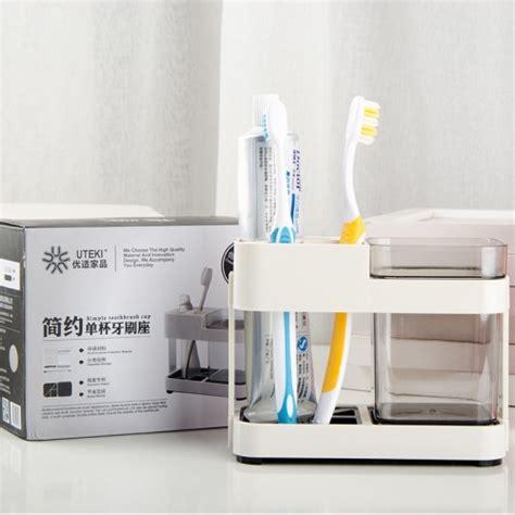 bathroom storage box seat toothbrush box holder cup bathroom storage toilet two removable dental appliances