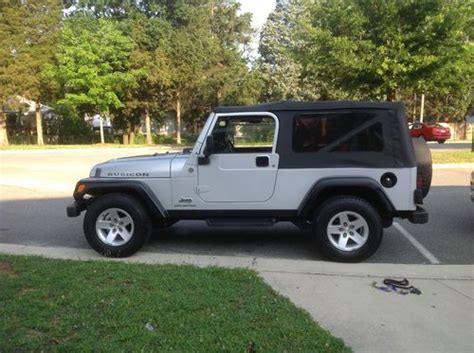 silver jeep rubicon 2 door sell used 2005 jeep wrangler unlimited rubicon sport
