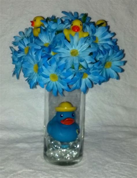 Baby Shower Vases Centerpieces by Rubber Duck Centerpiece For A Baby Boy Ebay