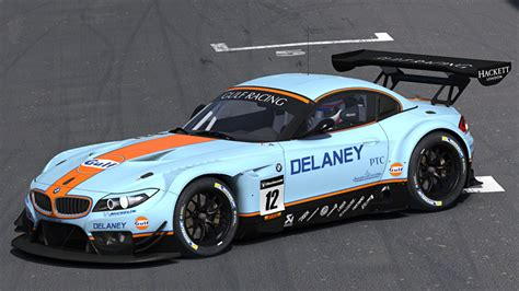 gulf racing gulf racing bmw z4 gt3 by matthew nethercote trading paints