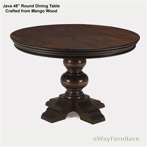 48 dining table java dining table 48 inch