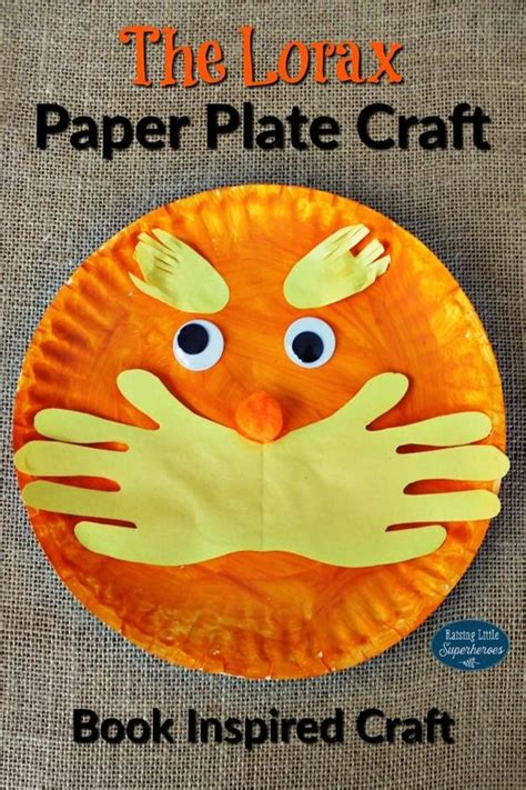 dr seuss paper plate craft paper plate crafts plate crafts and lorax on