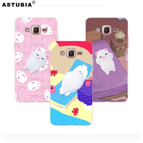 Soft Samsung J2 Anti Karakter anti stress squishy phone cases 3d cat phone cover for samsung galaxy j2 prime
