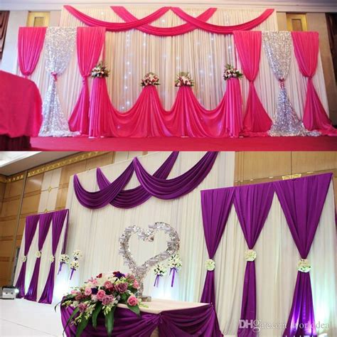 Ceiling Drapes For Rent Wedding Party Background Fabric Satin Curtain Drape Stage