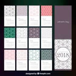 Calendar 2018 Template Powerpoint 2018 Calendar Template In Flat Design Vector Free