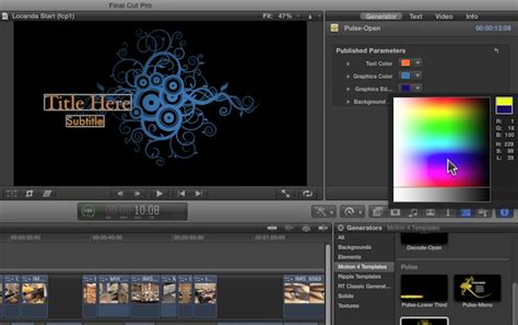 motion 4 templates free customizing motion 4 template colors in fcp x by