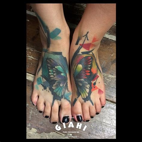 watercolor tattoo foot 100 awesome tattoos
