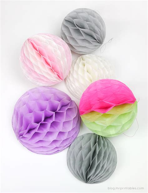 How To Make Pom Pom Balls With Tissue Paper - how to make honeycomb pom poms mr printables