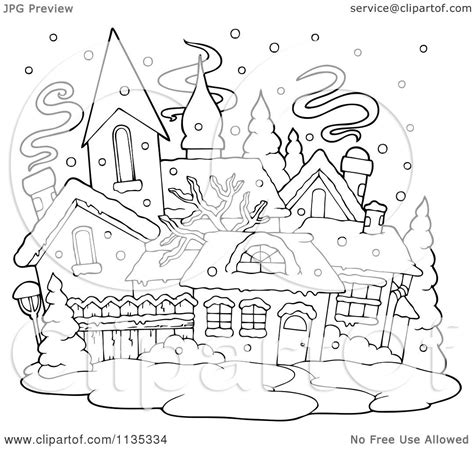 snow village coloring page free coloring pages of winter village