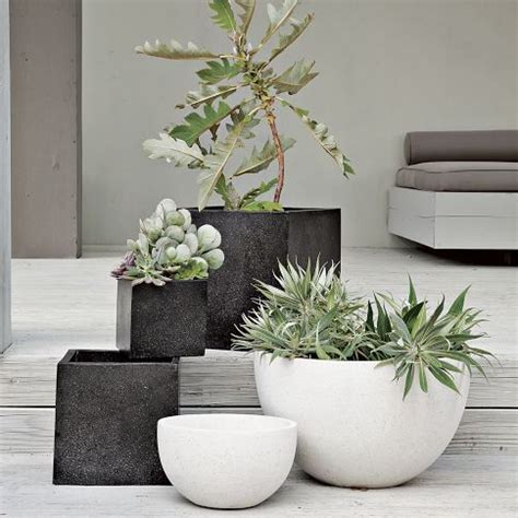 West Elm Planters by West Elm Speckled Planter In White Garden Architecture