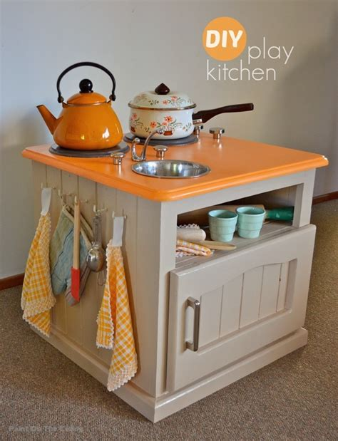 Handmade Play Kitchen - how to make a play kitchen for