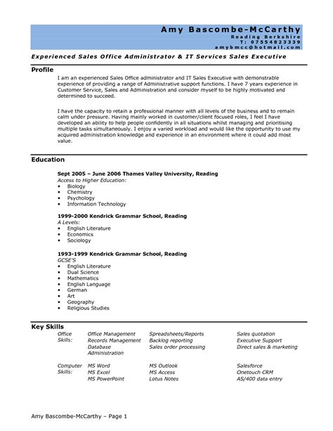 resume sles for office assistant assistant resume exles no experience template