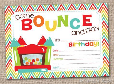 printable bounce house birthday invitations 5 best images of castle birthday invitations free