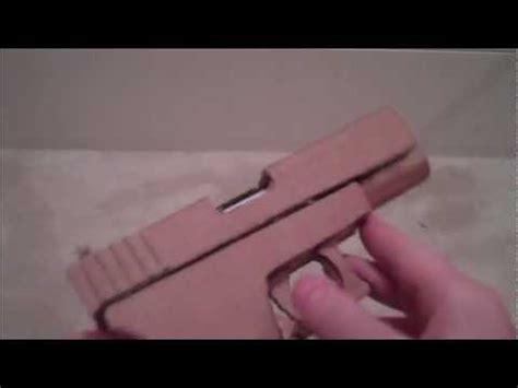 How Do You Make A Paper Gun - paper cardboard glock 18 17
