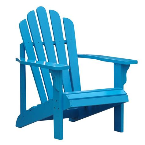 Turquoise Patio Chairs Shop Shine Company Westport Turquoise Cedar Patio Adirondack Chair At Lowes