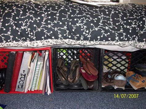 Milk Crate Bed Frame Best Bed Frame Or Make A Bed With Storage Out Of Milk Crates Crate Bed Milk Crates And