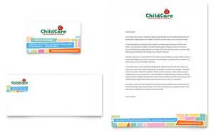 childcare business cards designs preschool day care business card letterhead