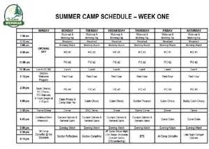 summer c schedule template day c weekly schedule template pictures to pin on