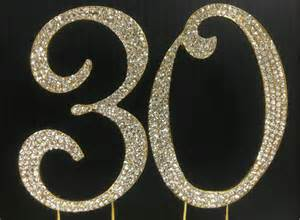 cake topper numbers gold rhinestone number 30 cake topper 30th birthday
