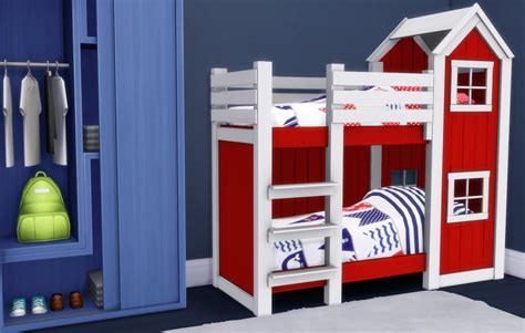 4 bed bunk bed my sims 4 mattresses for toddler bunk beds by