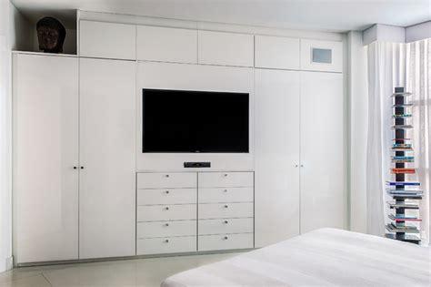 bedroom wardrobe with tv unit wardrobe tv unit contemporary bedroom miami by