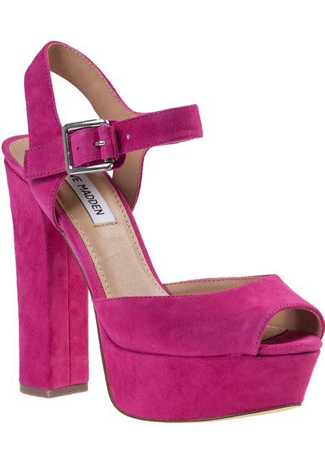 Athira Suede Platform Sandal steve madden jillyy platform sandal fuchsia suede in purple lyst