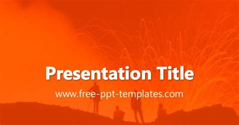 volcano powerpoint template volcano ppt template