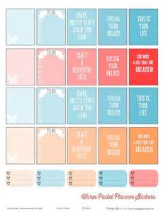 Warm pastel planner stickers free printable download for personal