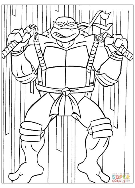 Michelangelo Coloring Online Michelangelo Coloring Pages