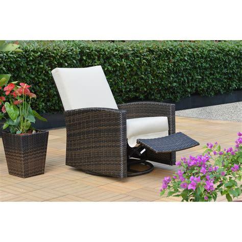 breakwater bay anderton swivel recliner patio chair