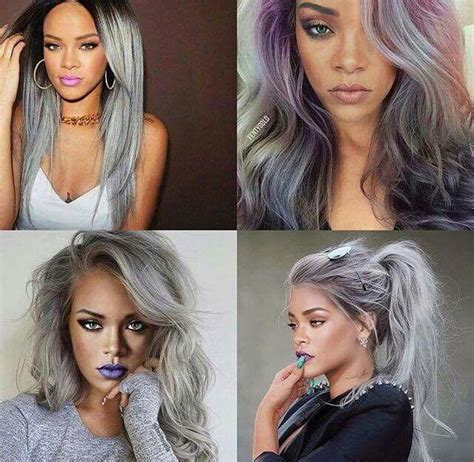 pinterest silver hair rihanna grey hair pinterest xpiink hair