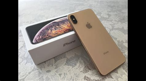 iphone xs max 256gb gold unboxing
