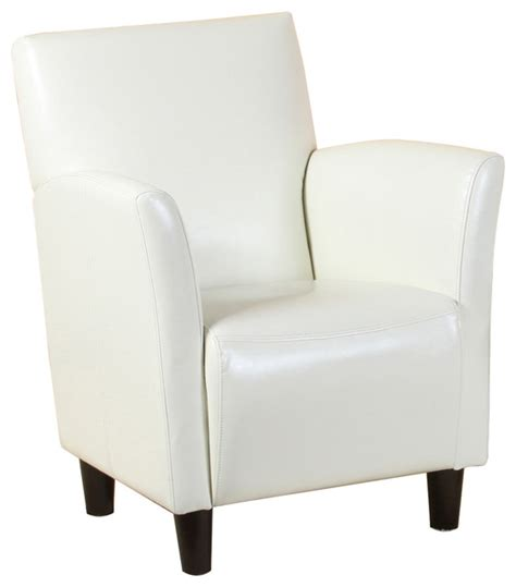 white leather club chair pismo white leather club chair contemporary armchairs and accent chairs