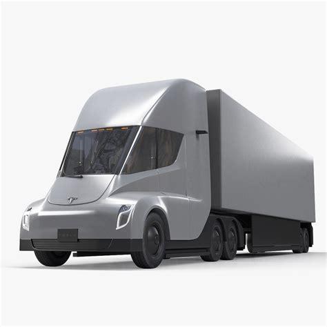tesla semi truck 3d model turbosquid 1228797