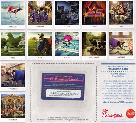 Chick Fil A Gift Card Checker - chick fil a calendar card fire it up grill
