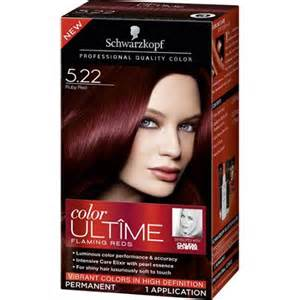 hair color at walmart schwarzkopf color ultime flaming reds hair coloring kit 5