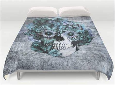 sugar skull bedding queen grunge style blue floral design sugar skull bedding